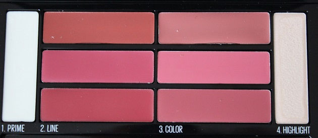 Lip contour palette - color drama - maybelline - bombshell