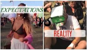 festival - expect vs reality
