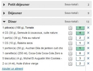 exemple de menu