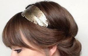 headband doré