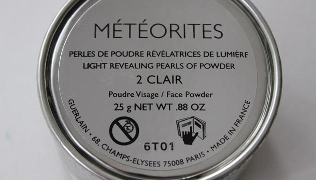 météorites Guerlain - packaging arrière