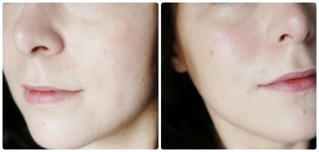 zoom peau maquillée