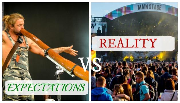 festival - expect vs reality 2