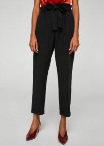 Pantalon noir, Mango