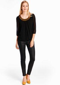 Pantalon noir effet croco, Lolaliza