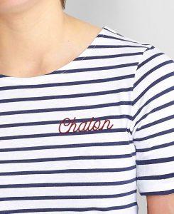 T-shirt brodé chaton, Mme T-shirt