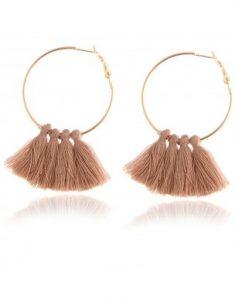 Boucles d'oreilles pompon nude